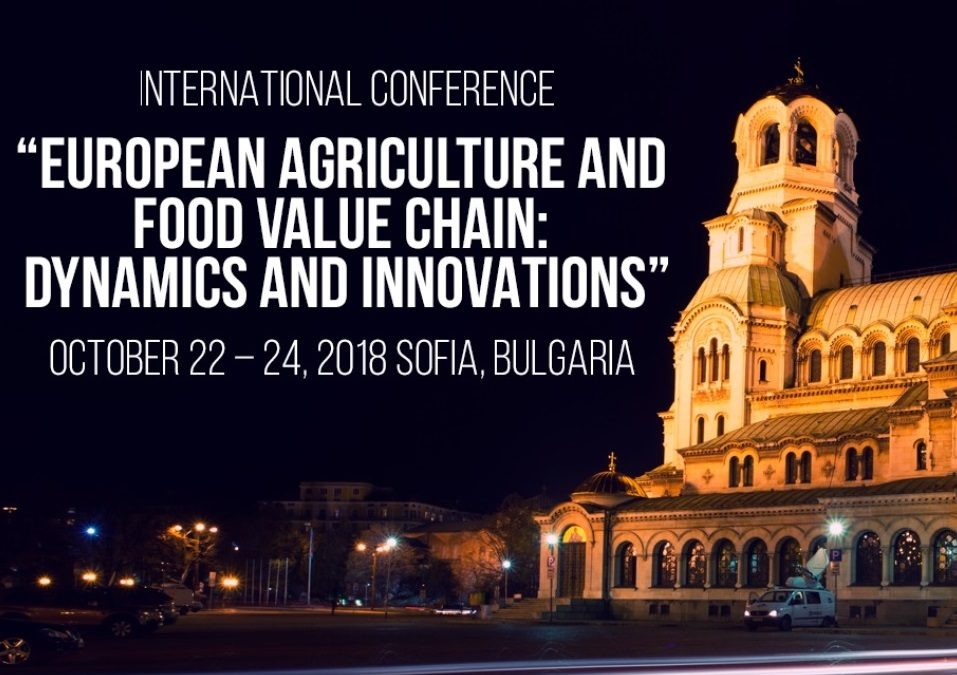 """Pro Drone Sys at the International Conference """"EUROPEAN AGRICULTURE AND: FOOD VALUE CHAIN DYNAMICS AND INNOVATIONS"""""""